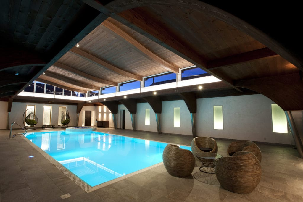 Beautiful Proteus stainless steel pool with raised Spa area