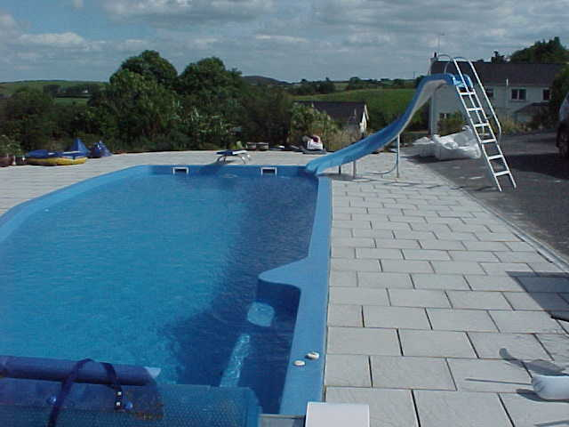 Certikin one piece composite pool with slide