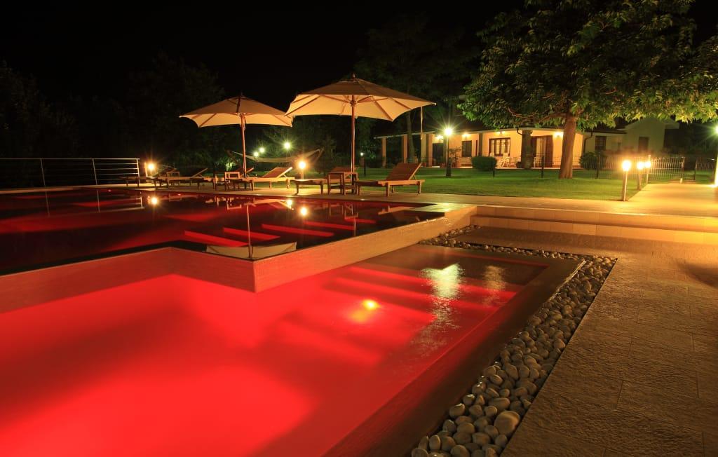 Certikin coloured LED lighting in RED